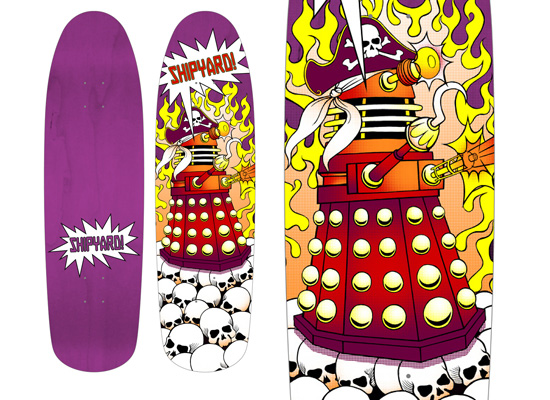 Dalek Skateboard by Shipyard Skates