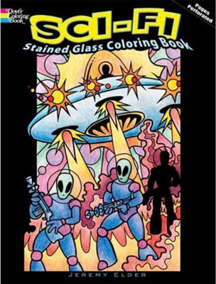 Sci Fi Stained Glass Coloring Book